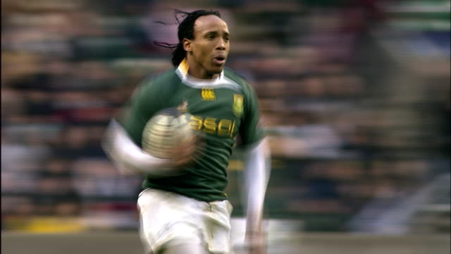 ndungane scores a try for south africa, barbarians v springboks, 4th december 2010 available in hd. - scoring stock videos & royalty-free footage