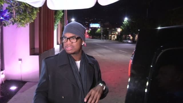 ne yo at nobu in west hollywood 01/02/13 - nobu restaurants stock videos & royalty-free footage
