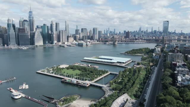 vídeos de stock, filmes e b-roll de ne york city establishing shot - establishing shot