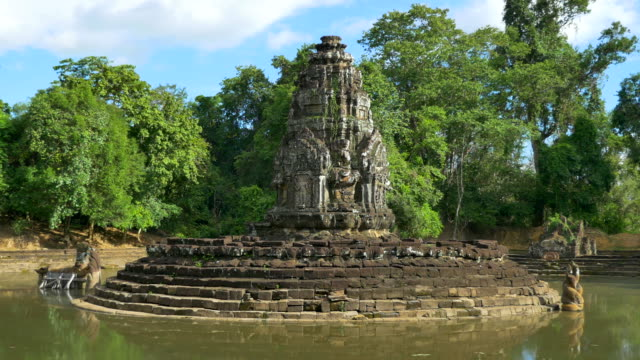 neak pean temple at the angkor wat - cambodia stock videos and b-roll footage