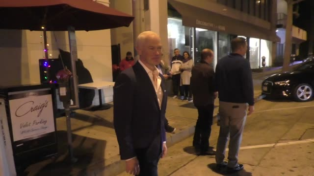 interview neal mcdonough talks about his show yellowstone outside craig's restaurant in los angeles in celebrity sightings in los angeles - yellowstone national park stock videos & royalty-free footage