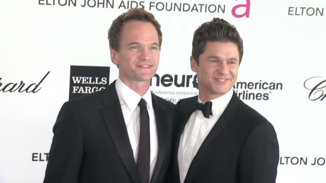 Neal Patrick Harris and David Burtka at Elton John Aids Foundation Celebrates 20th Annual Academy Awards Viewing Party on 2/26/12 in Hollywood CA