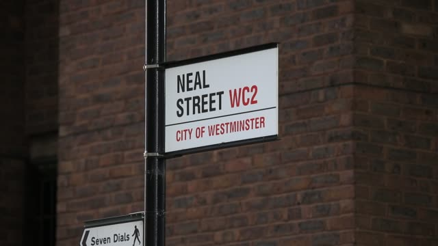 neal street sign - street name sign stock videos & royalty-free footage