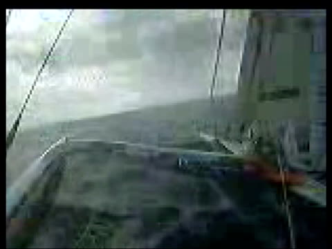 near cape verde at ellen macarthur speaking on videophone in cabin of yacht sot mentally very positive / early days yet only on day 6 / talking about... - solo performance stock videos and b-roll footage