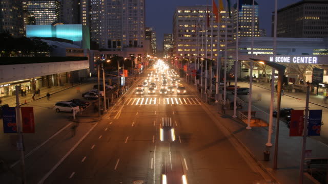 near moscone center at rush hour, time lapse - artbeats video stock e b–roll