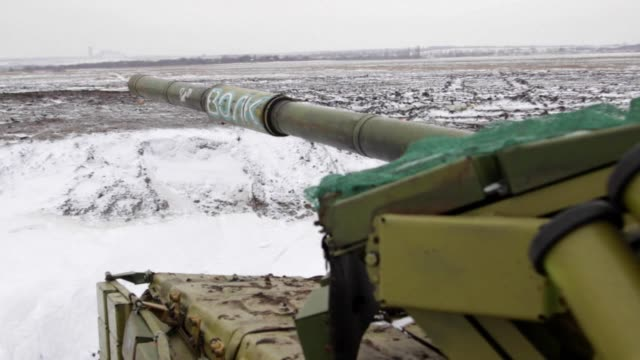 near the eastern ukrainian town of debaltseve army soldiers and pro russian seperatists continue to fight each other in spite of the cold... - other stock videos and b-roll footage
