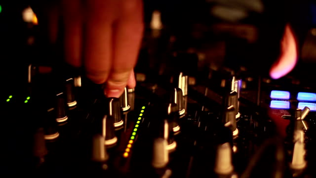 dj near the remote - radio controlled handset stock videos and b-roll footage