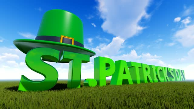 near view of abstract concept for st's patrick day with green hat background - march month stock videos & royalty-free footage