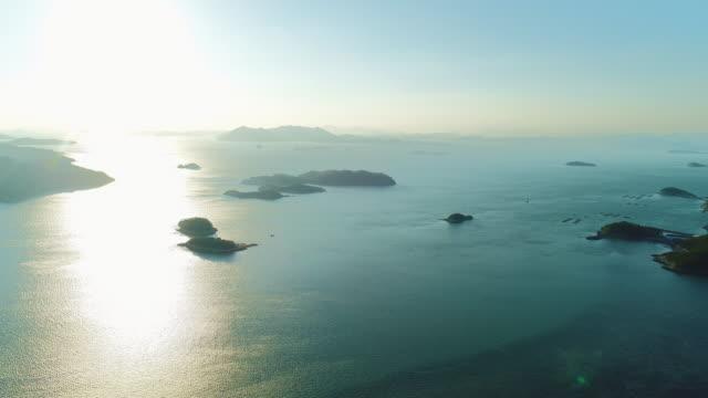 nearby geumdangdo island seascape / wandogun, jeollanam-do, south korea - south pacific ocean点の映像素材/bロール