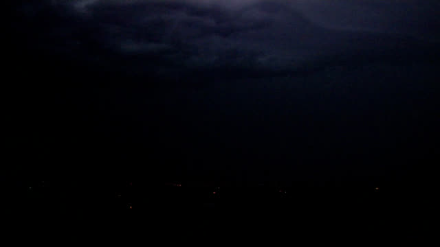 nearby night-time lightning - lightning strike stock videos and b-roll footage