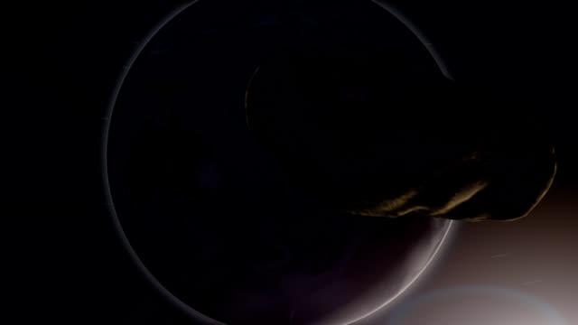 地上付近の小惑星への影響 - 全壊点の映像素材/bロール