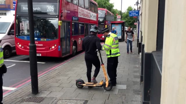 nearly 100 people have been caught illegally riding electric scooters in london this week the metropolitan police said most offenders were given a... - travelling light stock videos & royalty-free footage