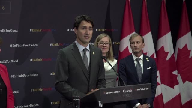 nearly $13 billion was pledged saturday towards the fight to eradicate aids tuberculosis and malaria by 2030 canadian prime minister justin trudeau... - tuberculosis stock videos & royalty-free footage