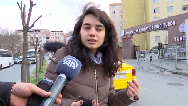 nearly 2000 new arrivals from various european countries to turkey are kept in three student dormitories in istanbul which are under quarantine... - オランダ点の映像素材/bロール