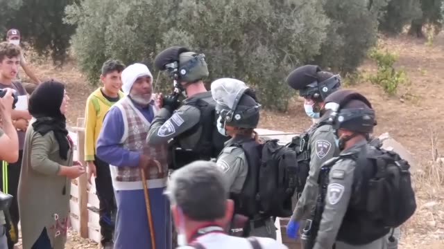 nearly 250 palestinians live under the threat of israel even in caves and tiny shelters in susiya village south of hebron where they took refuge... - israel palestine conflict stock videos & royalty-free footage