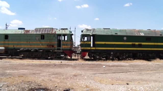 nearly a century ago, iraqis and westerners stood here with tickets to berlin, istanbul or venice. today, the rusting tracks and overturned carriages... - {{relatedsearchurl(carousel.phrase)}} video stock e b–roll