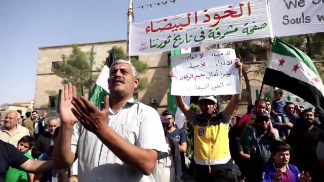 nearly eight years after he joined his very first protest against syria's regime bahr nahhas still demonstrates every week with unwaning energy even... - hometown stock videos and b-roll footage