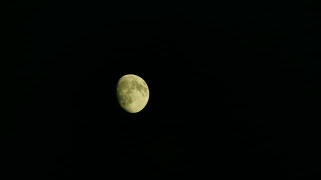 nearly full moon glows in night sky - fortune telling stock videos and b-roll footage