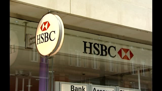 Nearly two million unemployed / Woolworths to close all stores Location unknown HSBC sign outside branch