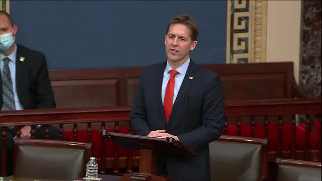 nebraska senator ben sasse begins a speech about human rights abuse and cotton picking by forced labor in xinjiang noting that it was not often... - 上院議員点の映像素材/bロール