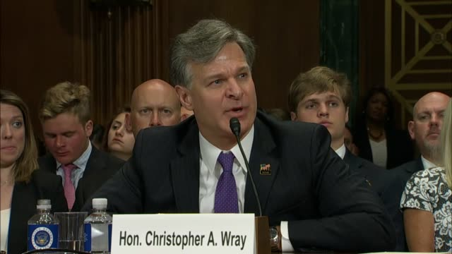 nebraska senator ben sasse questions nominee for director of the federal bureau of investigation christopher wray about why he would resign under... - christopher a. wray stock videos & royalty-free footage