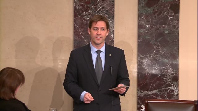 nebraska senator ben sasse remarks on a news controversy after meetings between senators and supreme court nominee judge neil gorsuch, saying that he... - nominee stock videos & royalty-free footage