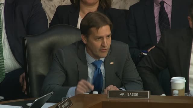 nebraska senator ben sasse says at a hearing with justice department inspector general michael horowitz about his report on how the fbi crossfire... - michael horowitz stock videos & royalty-free footage