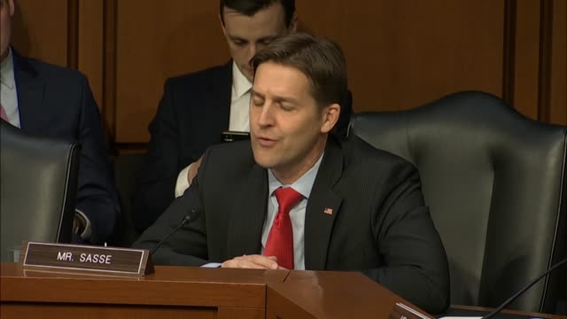nebraska senator ben sasse tells attorney general nominee william barr at his confirmation hearing in the senate judiciary committee that deputy... - department of justice stock videos & royalty-free footage