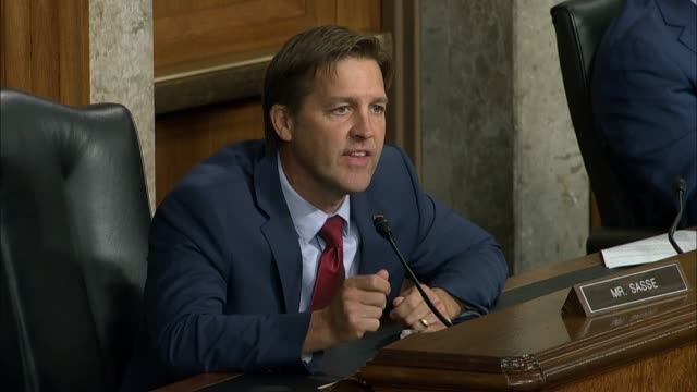 nebraska senator ben sasse tells former fbi director james comey at a senate judiciary committee hearing in review of the 2016 crossfire hurricane... - serene people stock videos & royalty-free footage