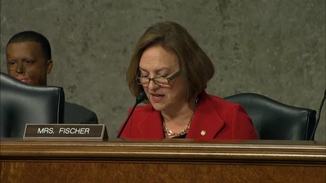 nebraska senator deb fischer asks army general john campbell commander of us forces afghanistan about the variety and interests of foreign fighters... - john f. campbell general stock videos & royalty-free footage