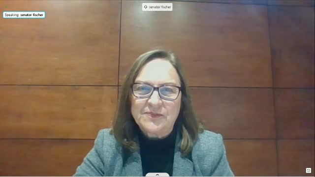 nebraska senator deb fischer continues questioning twitter founder jack dorsey by videoconference at a senate commerce committee hearing on social... - noise stock videos & royalty-free footage