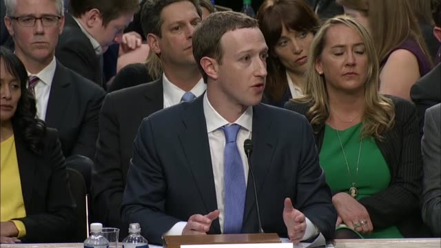 Nebraska Senator Deb Fischer questions Facebook CEO Mark Zuckerberg at a joint hearing on data privacy about his use of the term complete control...
