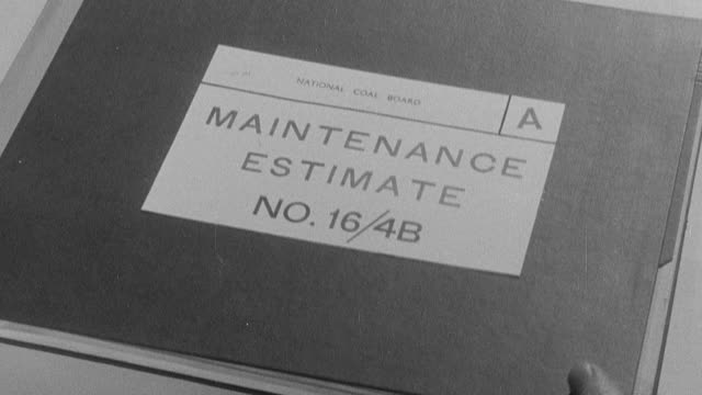 1954 montage necessary paperwork needed to track maintenance jobs that have been performed / united kingdom - 1954 stock videos & royalty-free footage