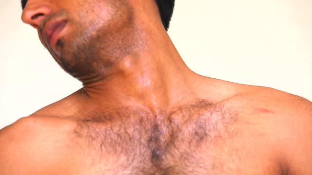 vídeos y material grabado en eventos de stock de cuello de ejercicio - cuello humano