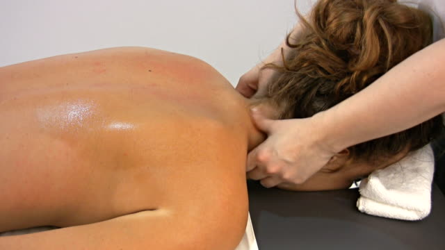 neck massage - human hair stock videos & royalty-free footage