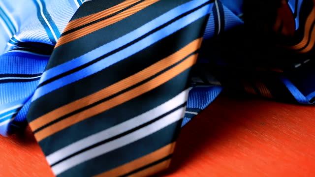 Necktie on a wooden floor