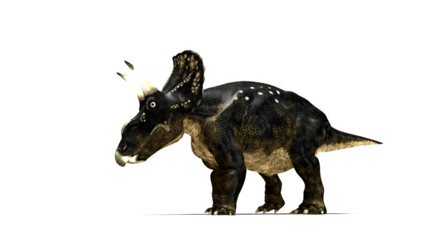 nedoceratops dinosaur walking - herbivorous stock videos & royalty-free footage