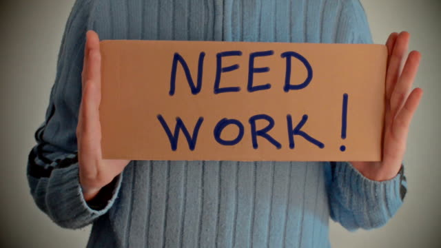 need work message on cardboard - classified ad stock videos & royalty-free footage