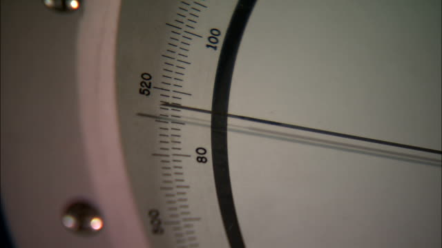 A needle on a pressure gauge slowly moves up.