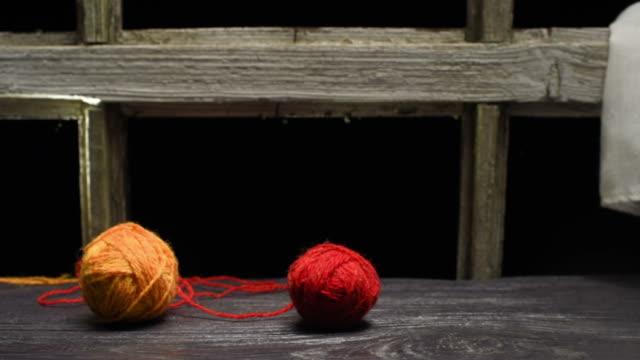 needleworking mug in sweater - mitten stock videos & royalty-free footage