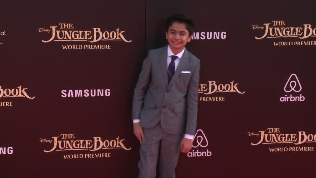 """neel sethi at disney's """"the jungle book"""" los angeles premiere at the el capitan theatre on april 04, 2016 in hollywood, california. - el capitan theatre stock videos & royalty-free footage"""