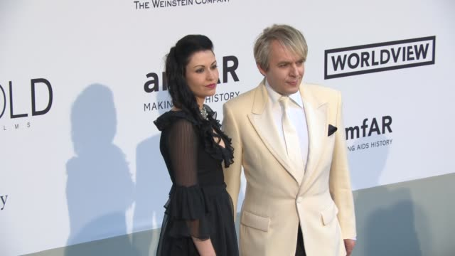nefer suvio nick rhodes at amfar red carpet at hotel du capedenroc on may 22 2014 in cap d'antibes france - nick rhodes stock videos & royalty-free footage