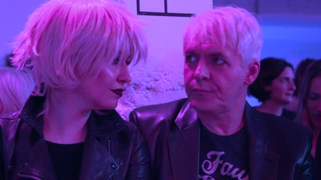 nefer suvio nick rhodes at london fashion week a/w 2020 pam hogg at fashion scout on february 16 2020 in london england - nick rhodes stock videos & royalty-free footage