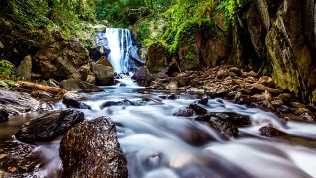 neidong waterfalls, taiepi, taiwan - taiwan stock videos & royalty-free footage