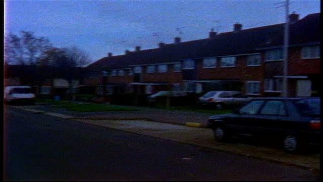 neighborhood in london on super 8 film - terraced house stock videos & royalty-free footage
