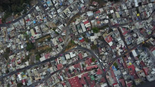 Neighborhood in Mexico City, overhead aerial