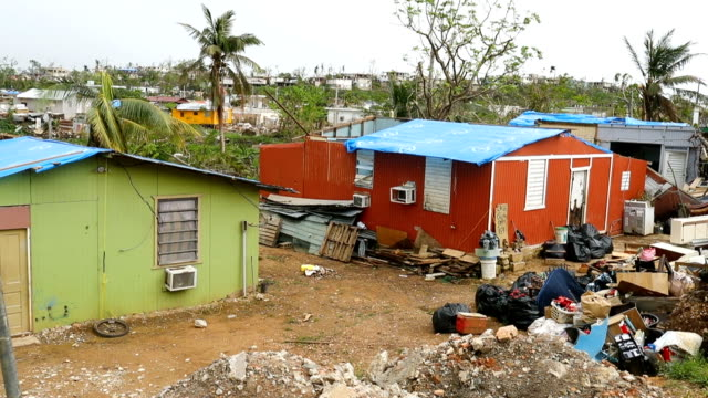 A neighborhood remains without electricity and running water more than three weeks after Hurricane Maria hit on September 20 2017 in San Isidro...