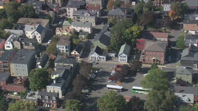 aerial neighborhoods in the town of salem / massachusetts, united states - salem massachusetts stock videos & royalty-free footage