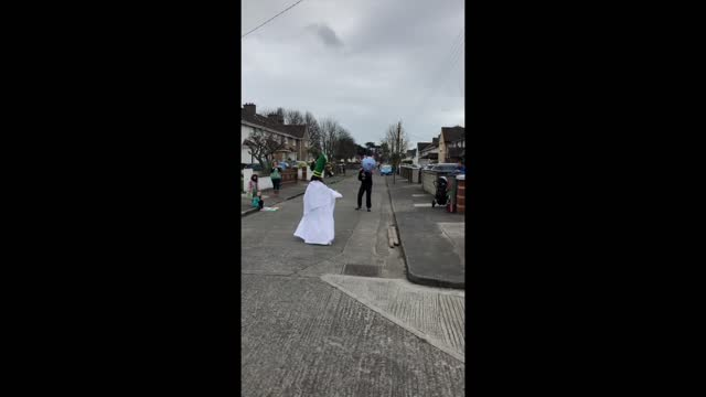 neighbourhood in dublin proved social distancing was no barrier to celebrating st patrick' day, on march 17, when residents in the suburb of... - 20 29 years stock videos & royalty-free footage