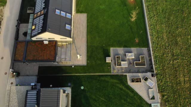 neighbourly competition in who has the nicest backyard - lawn stock videos & royalty-free footage